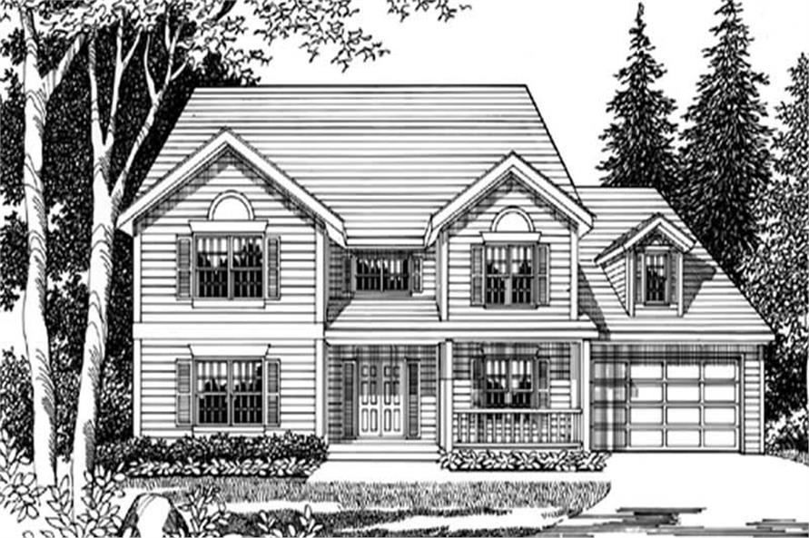 4-Bedroom, 2550 Sq Ft Country House Plan - 149-1640 - Front Exterior