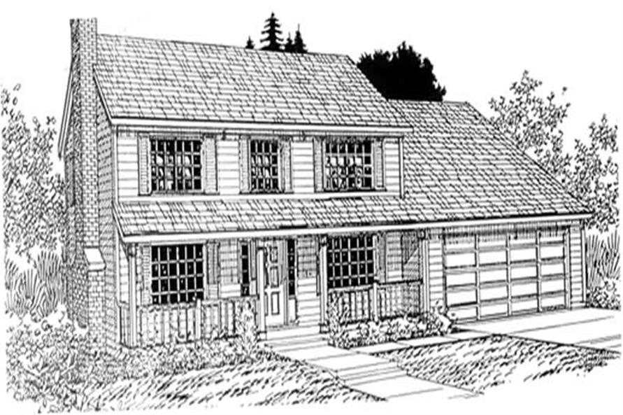 4-Bedroom, 2210 Sq Ft Country House Plan - 149-1642 - Front Exterior