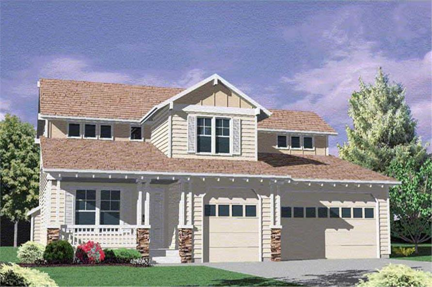 4-Bedroom, 2360 Sq Ft Craftsman Home Plan - 149-1643 - Main Exterior