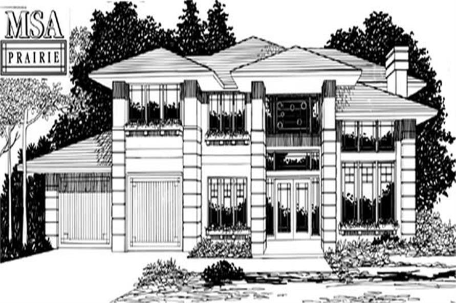 4-Bedroom, 2387 Sq Ft Prairie Home Plan - 149-1646 - Main Exterior