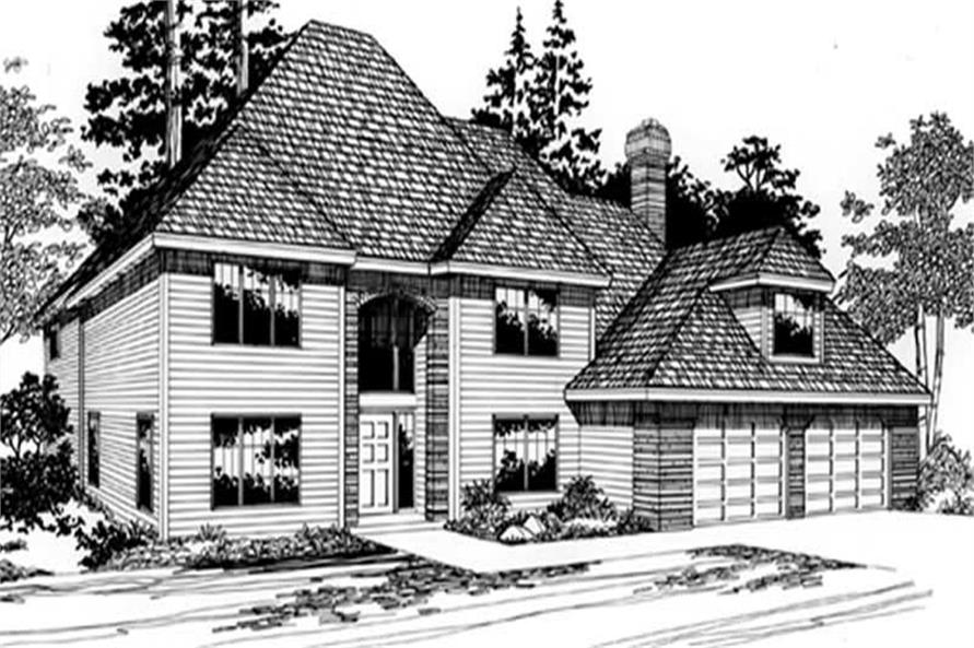 4-Bedroom, 2369 Sq Ft European Home Plan - 149-1649 - Main Exterior