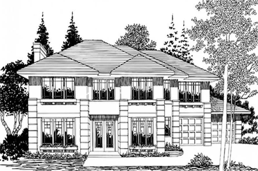 Home Plan Rendering of this 4-Bedroom,2538 Sq Ft Plan -149-1658