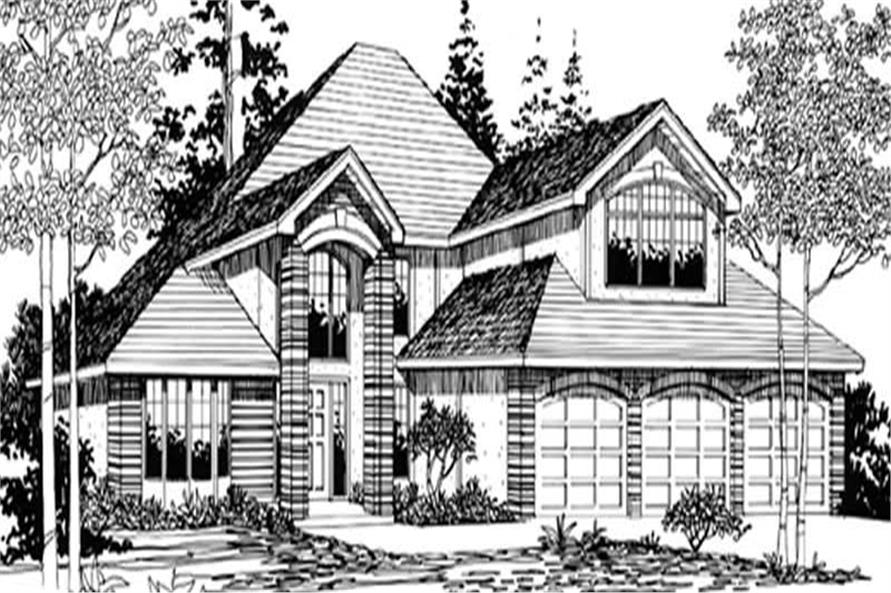 4-Bedroom, 2499 Sq Ft French House Plan - 149-1664 - Front Exterior