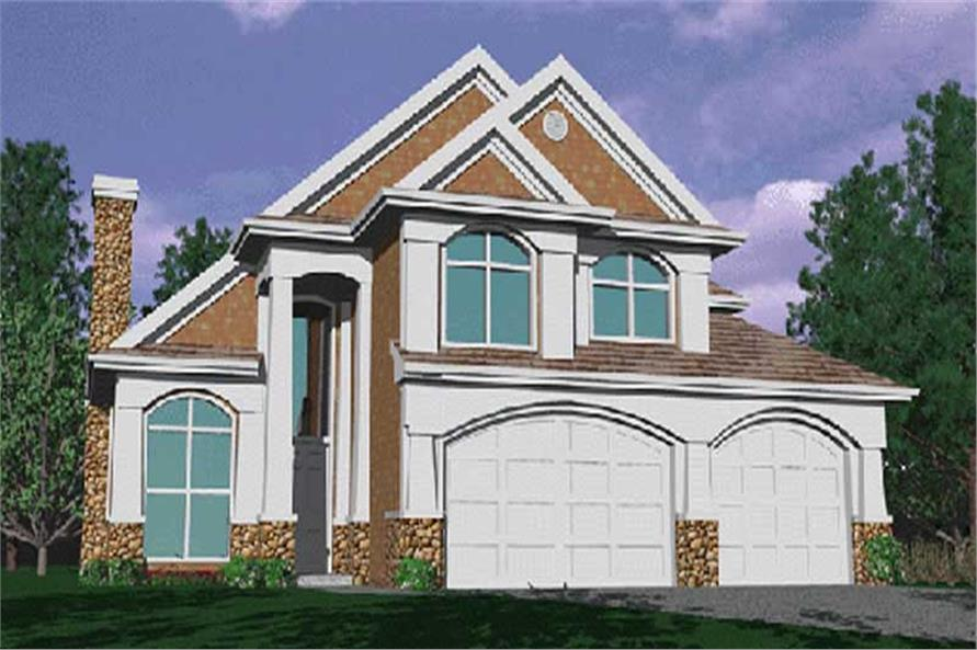 4-Bedroom, 2497 Sq Ft Contemporary House Plan - 149-1665 - Front Exterior
