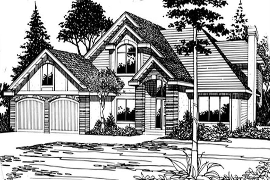 4-Bedroom, 2367 Sq Ft European Home Plan - 149-1666 - Main Exterior
