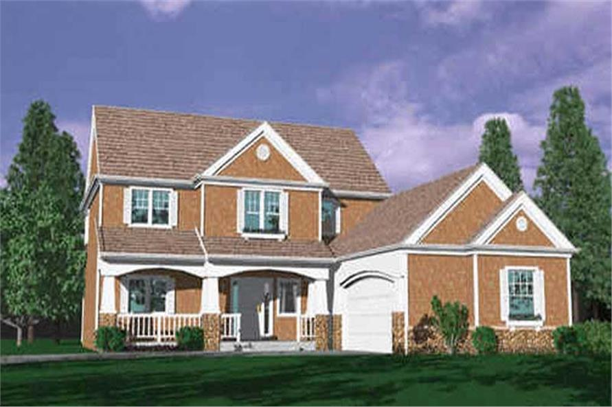 4-Bedroom, 2545 Sq Ft Country House Plan - 149-1671 - Front Exterior