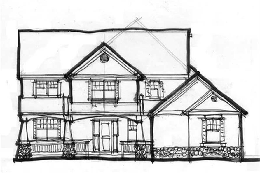 Main Elevation of this 4-Bedroom,2545 Sq Ft Plan -2545