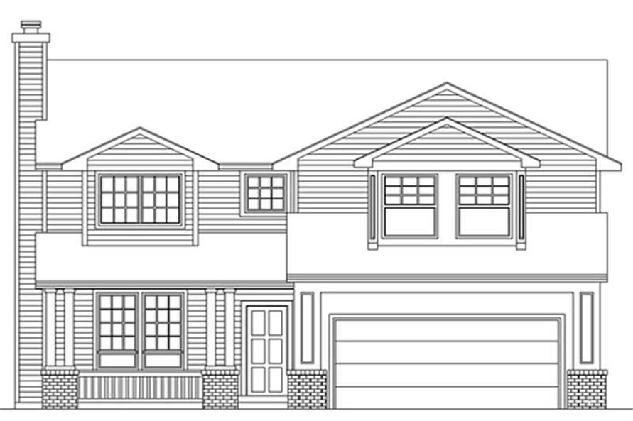 4-Bedroom, 2486 Sq Ft Country House Plan - 149-1676 - Front Exterior