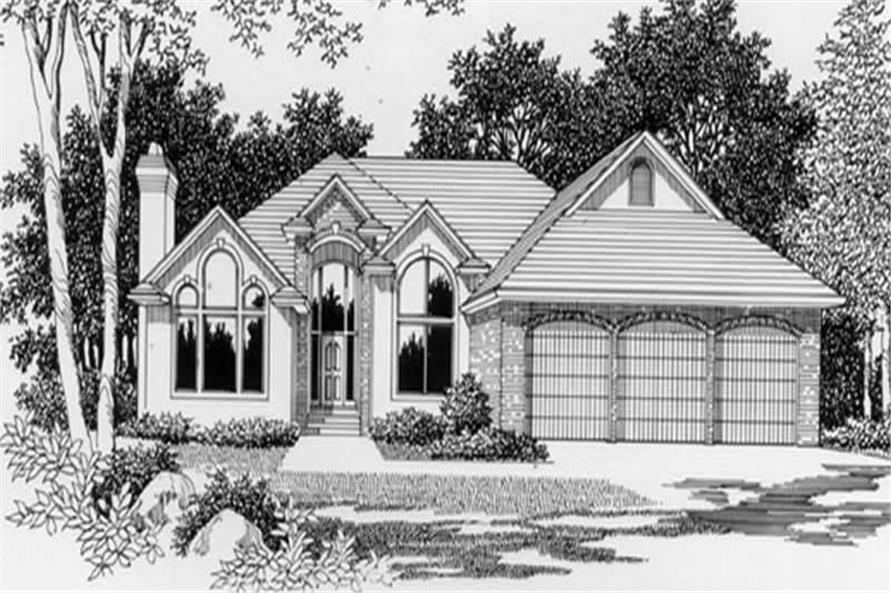 4-Bedroom, 2485 Sq Ft Contemporary House Plan - 149-1677 - Front Exterior