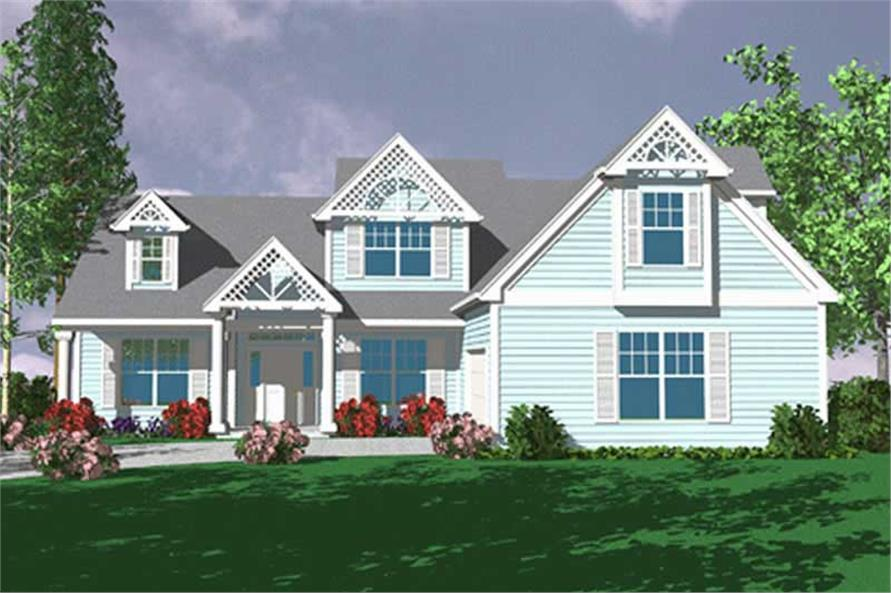 4-Bedroom, 2392 Sq Ft Country Home Plan - 149-1680 - Main Exterior