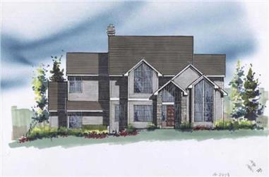 3-Bedroom, 2493 Sq Ft Contemporary House Plan - 149-1681 - Front Exterior