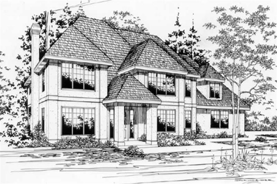 4-Bedroom, 2540 Sq Ft European House Plan - 149-1683 - Front Exterior