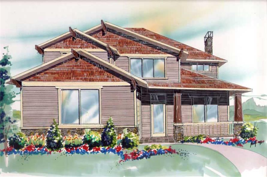 4-Bedroom, 2531 Sq Ft Contemporary House Plan - 149-1684 - Front Exterior