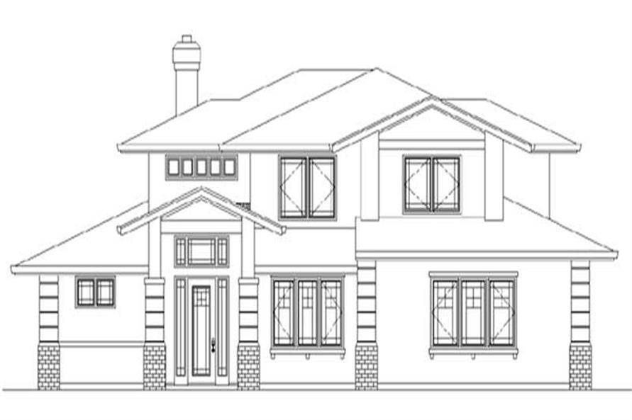4-Bedroom, 2527 Sq Ft Prairie House Plan - 149-1686 - Front Exterior