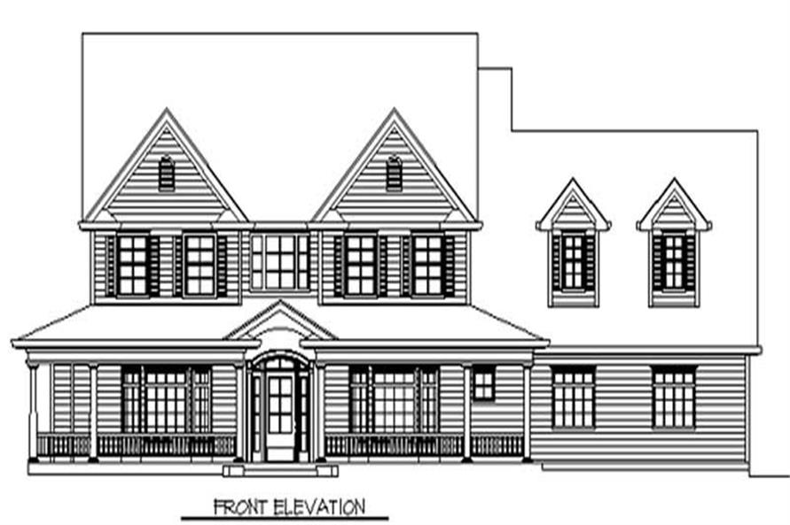 3-Bedroom, 2526 Sq Ft Country House Plan - 149-1688 - Front Exterior