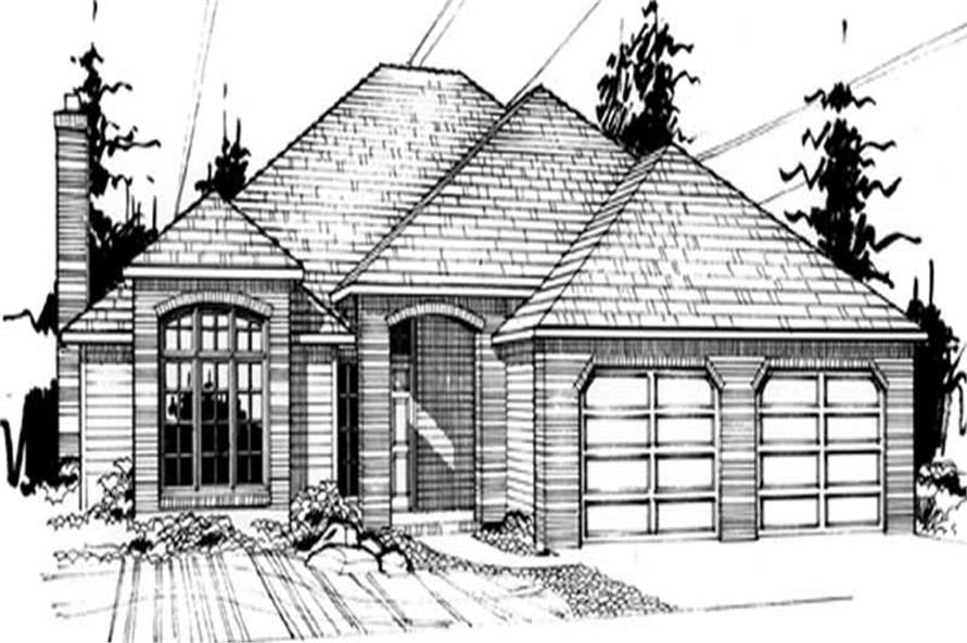 4-Bedroom, 2501 Sq Ft European House Plan - 149-1690 - Front Exterior