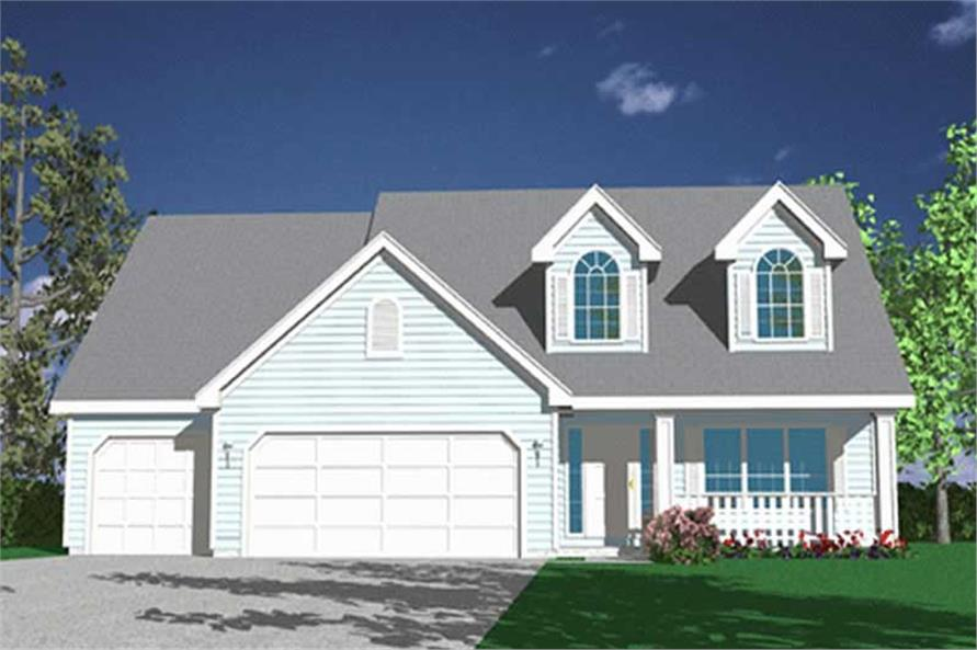 4-Bedroom, 2505 Sq Ft Country House Plan - 149-1692 - Front Exterior