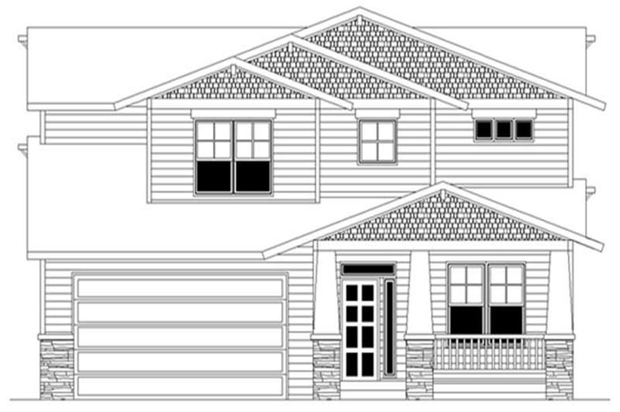 4-Bedroom, 2273 Sq Ft Craftsman Home Plan - 149-1703 - Main Exterior