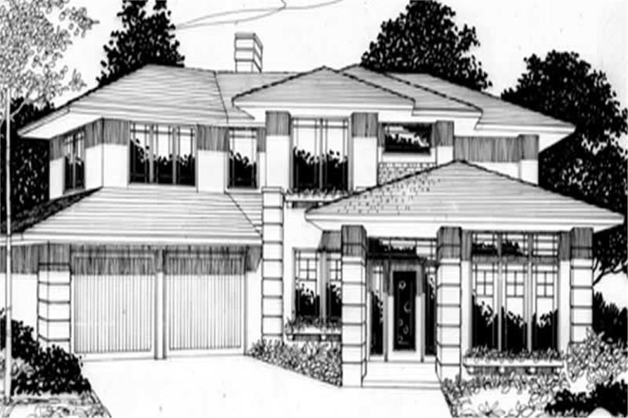 Main Elevation of this 4-Bedroom,2279 Sq Ft Plan -2279