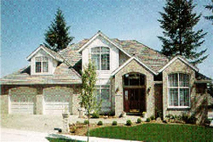 4-Bedroom, 2992 Sq Ft Traditional Home Plan - 149-1708 - Main Exterior