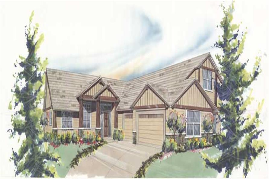 3-Bedroom, 2321 Sq Ft Transitional Home Plan - 149-1711 - Main Exterior
