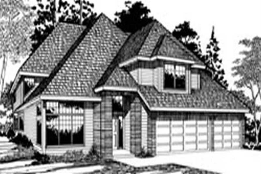 Main Elevation of this 4-Bedroom,2026 Sq Ft Plan -2026