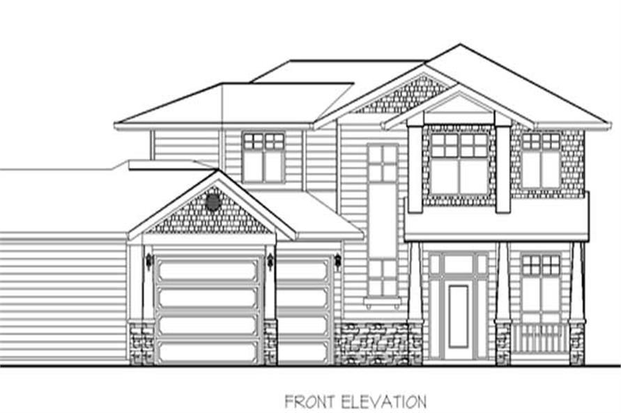 Home Plan Rendering of this 4-Bedroom,2375 Sq Ft Plan -149-1715