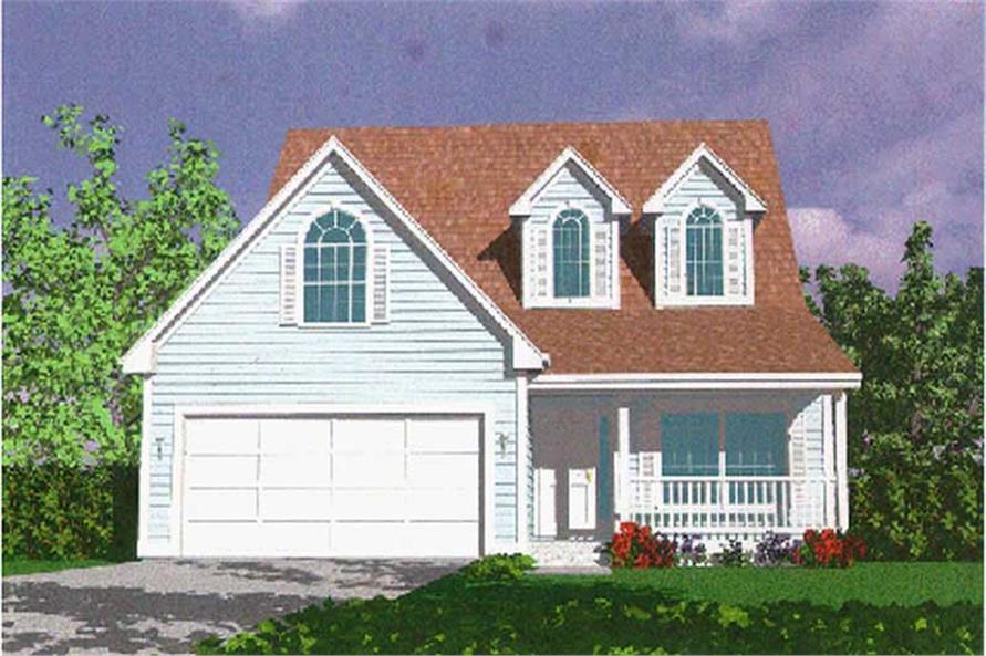 4-Bedroom, 2324 Sq Ft Country Home Plan - 149-1718 - Main Exterior