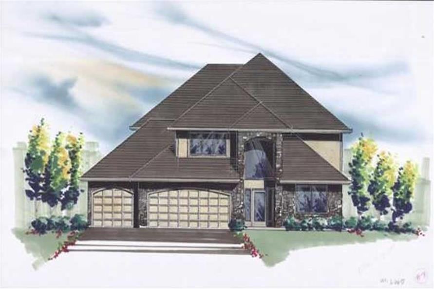 4-Bedroom, 2666 Sq Ft Craftsman House Plan - 149-1724 - Front Exterior