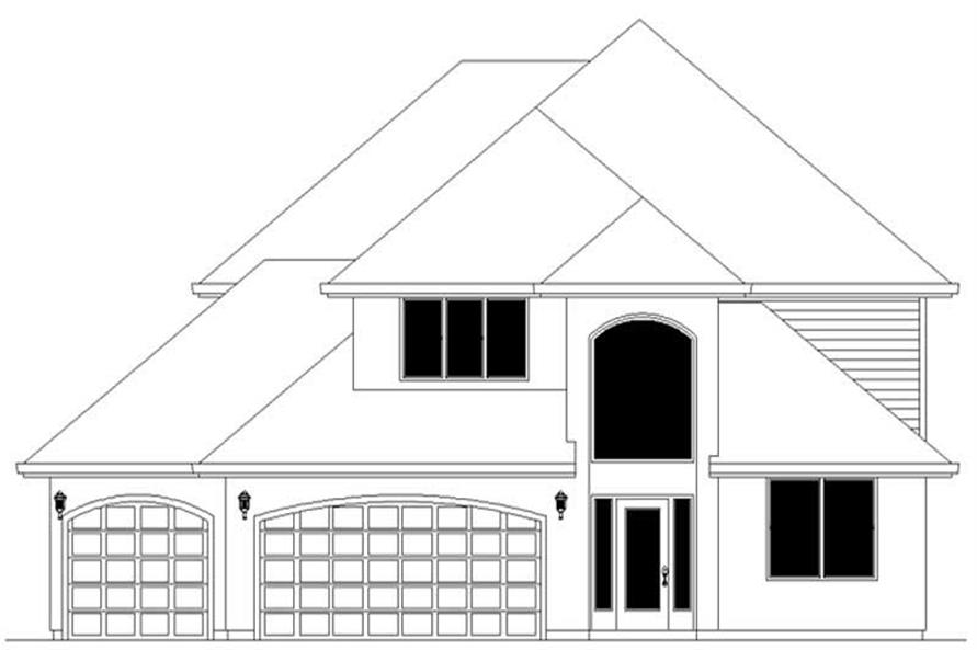 Home Plan Rendering of this 4-Bedroom,2666 Sq Ft Plan -149-1724