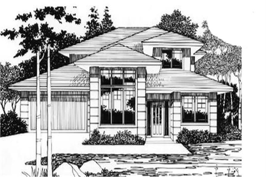 4-Bedroom, 2223 Sq Ft Feng Shui House Plan - 149-1725 - Front Exterior