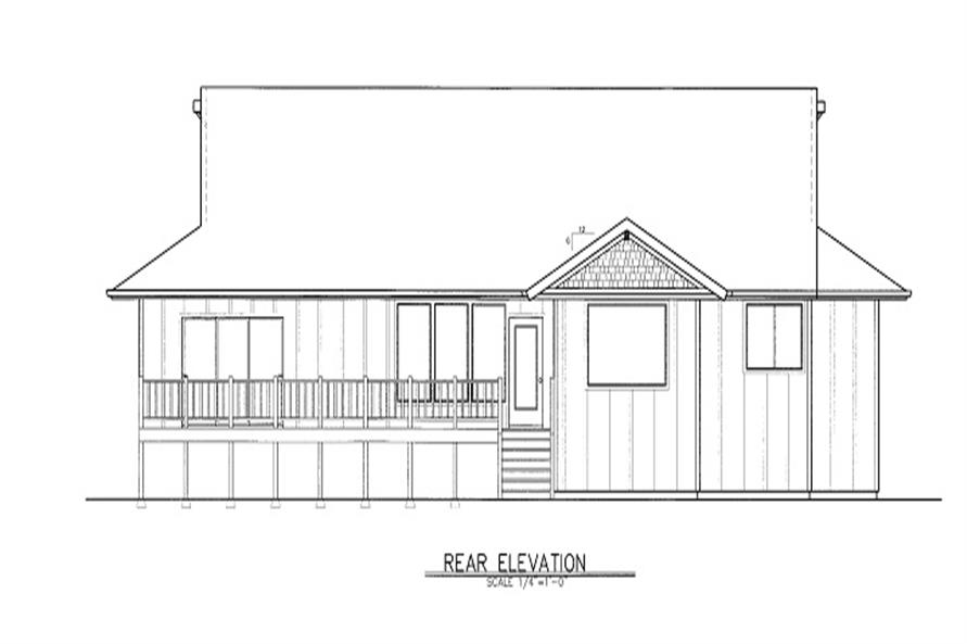 Home Plan Rear Elevation of this 3-Bedroom,2225 Sq Ft Plan -149-1726