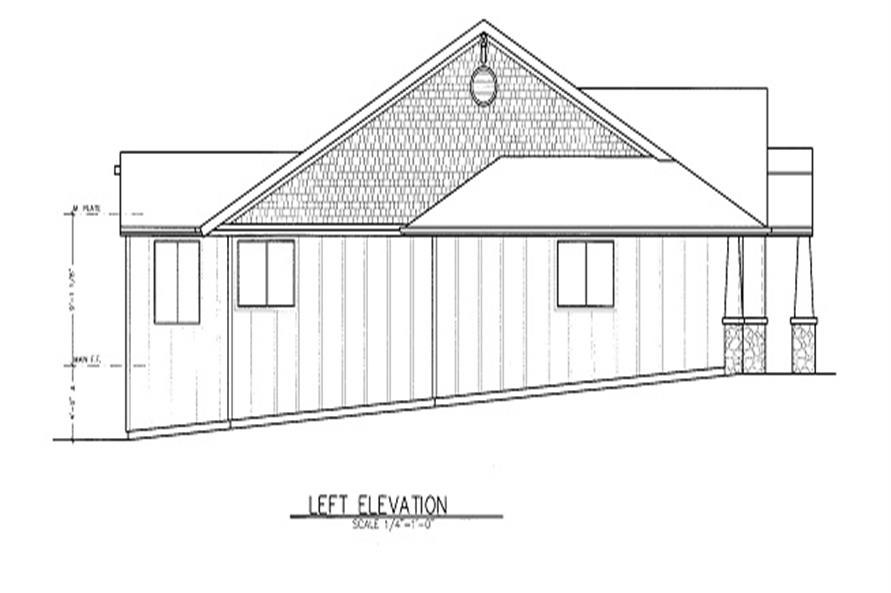 Home Plan Left Elevation of this 3-Bedroom,2225 Sq Ft Plan -149-1726