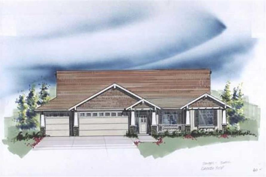 3-Bedroom, 2225 Sq Ft Craftsman House Plan - 149-1726 - Front Exterior