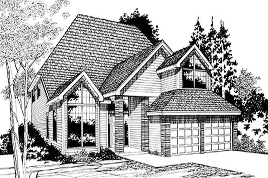 4-Bedroom, 2277 Sq Ft Contemporary Home Plan - 149-1728 - Main Exterior
