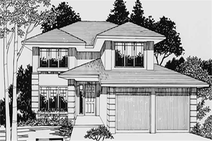 4-Bedroom, 2276 Sq Ft Prairie House Plan - 149-1729 - Front Exterior