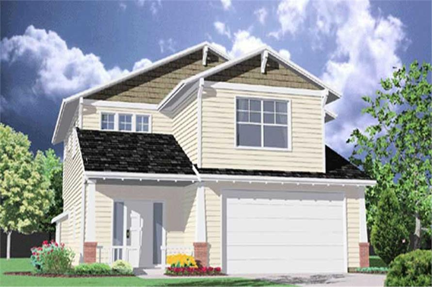 4-Bedroom, 2267 Sq Ft Craftsman House Plan - 149-1731 - Front Exterior