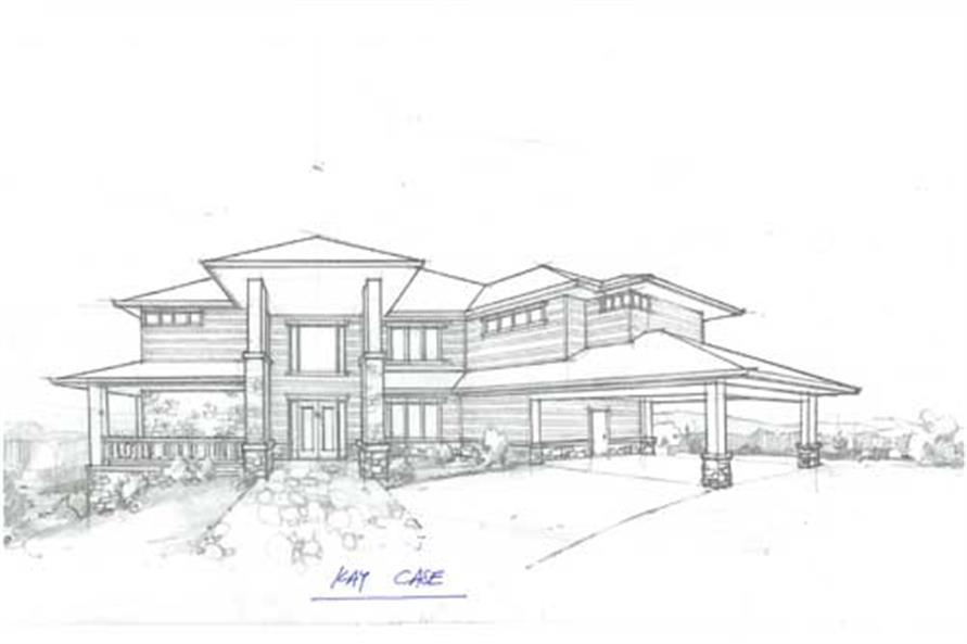 5-Bedroom, 4506 Sq Ft Prairie House Plan - 149-1735 - Front Exterior
