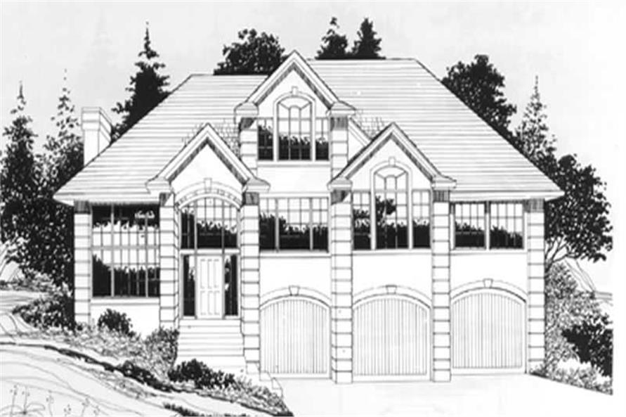 149-1738: Home Plan Front Elevation