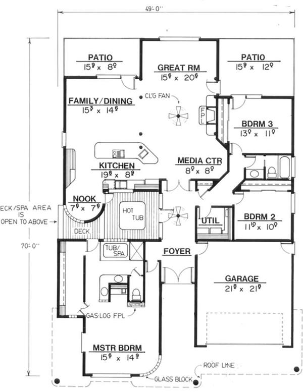 Feng Shui House Plan Layout http://www.theplancollection.com/house-plans/home-plan-2631