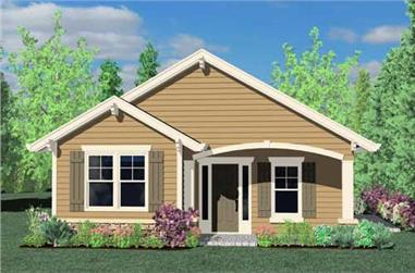 2-Bedroom, 1347 Sq Ft Country House Plan - 149-1742 - Front Exterior