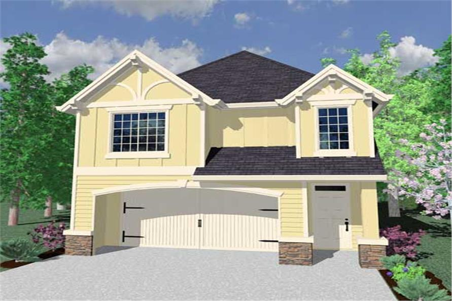 4-Bedroom, 1817 Sq Ft European Home Plan - 149-1749 - Main Exterior