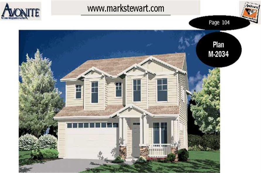 3-Bedroom, 2334 Sq Ft Traditional Home Plan - 149-1753 - Main Exterior