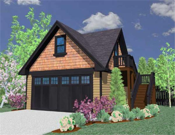 This is a computerized rendering for these Garage Plans.
