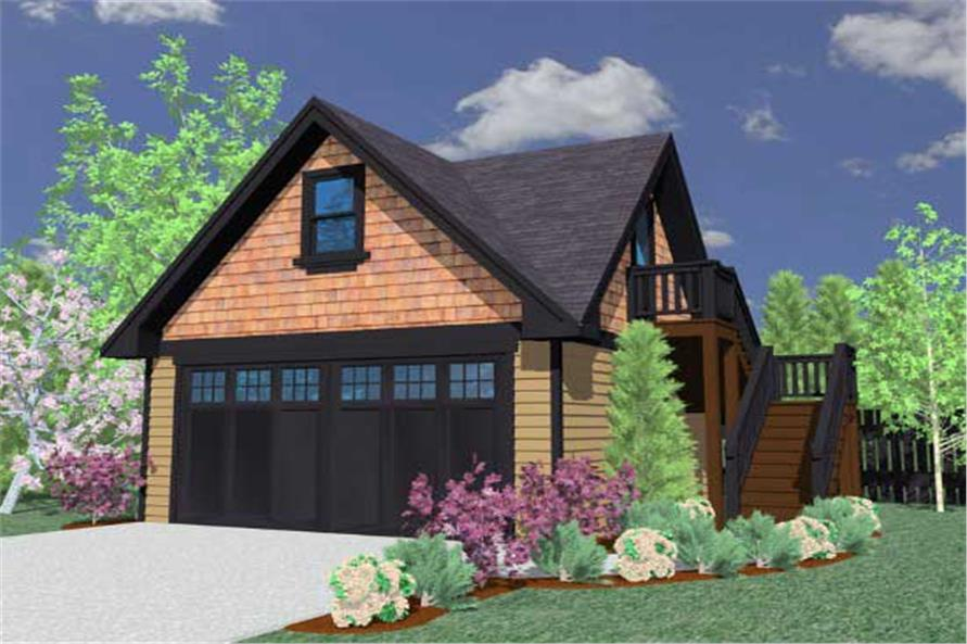 0-Bedroom, 361 Sq Ft Garage Home Plan - 149-1755 - Main Exterior