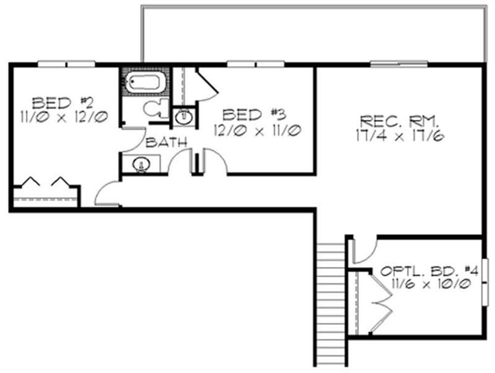 Large images for house plan 149 1761 - House plans one story with basement collection ...