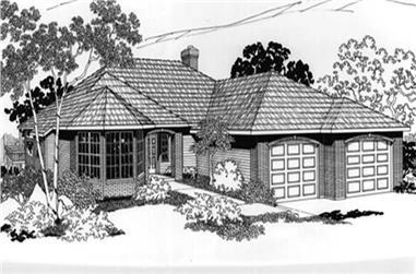 4-Bedroom, 1758 Sq Ft Feng Shui Home Plan - 149-1766 - Main Exterior