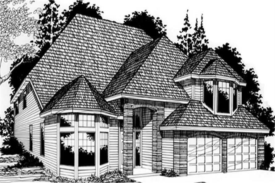 4-Bedroom, 2313 Sq Ft Transitional Home Plan - 149-1768 - Main Exterior
