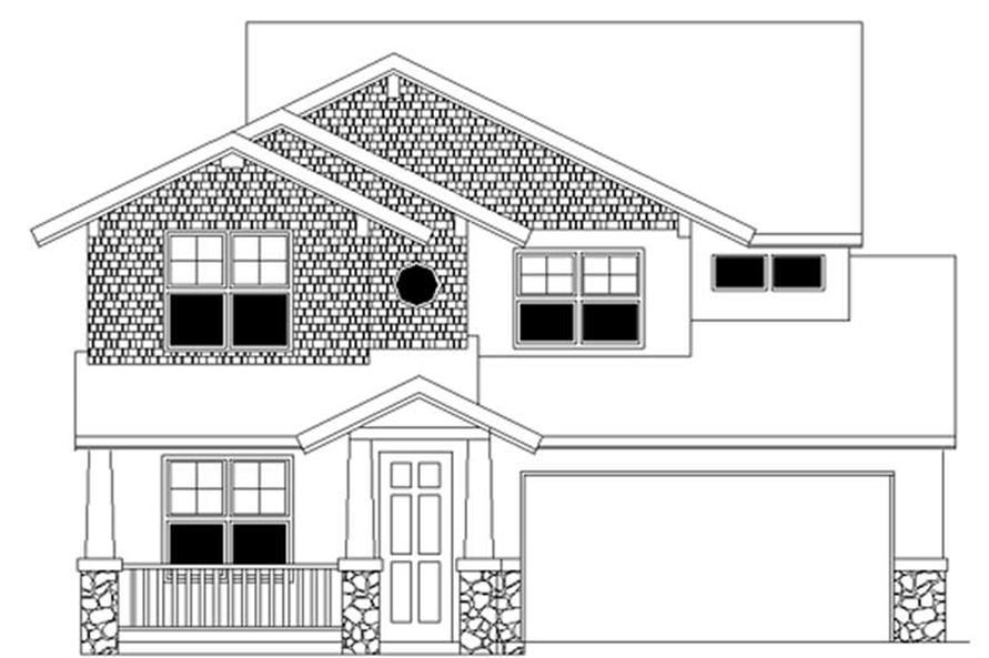 4-Bedroom, 2319 Sq Ft Ranch Home Plan - 149-1770 - Main Exterior