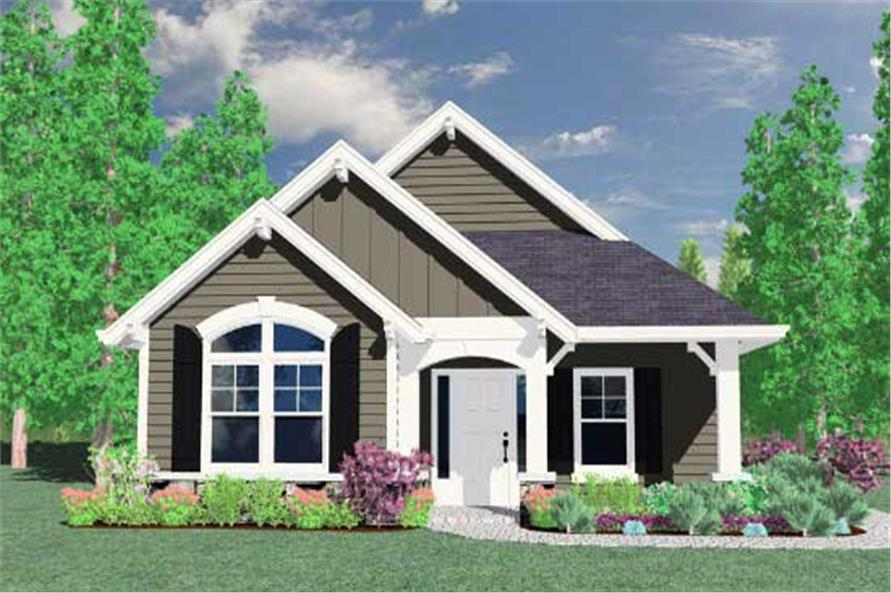 2-Bedroom, 1347 Sq Ft Country House Plan - 149-1773 - Front Exterior